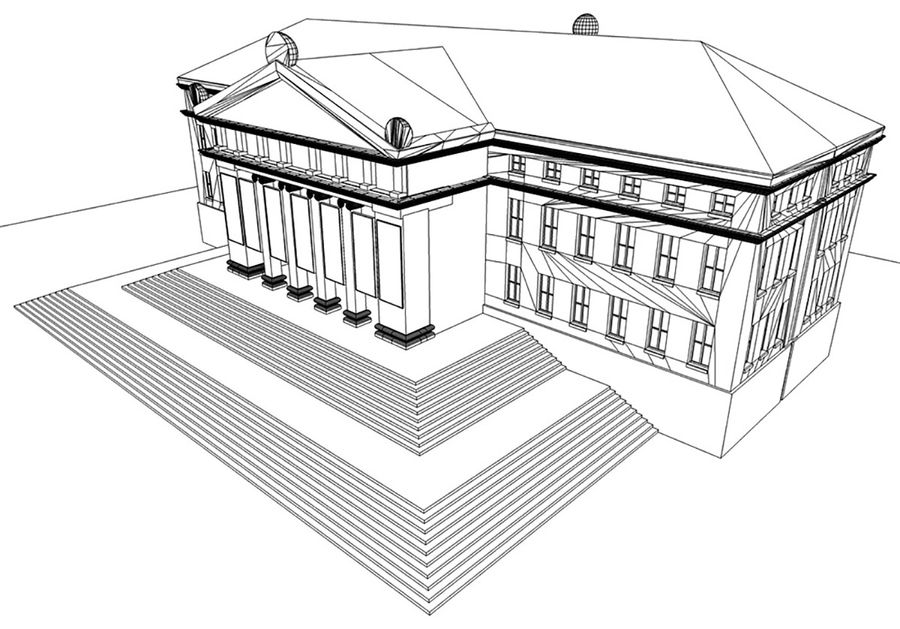 Museo royalty-free 3d model - Preview no. 10