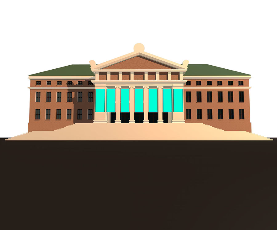 Museo royalty-free 3d model - Preview no. 4
