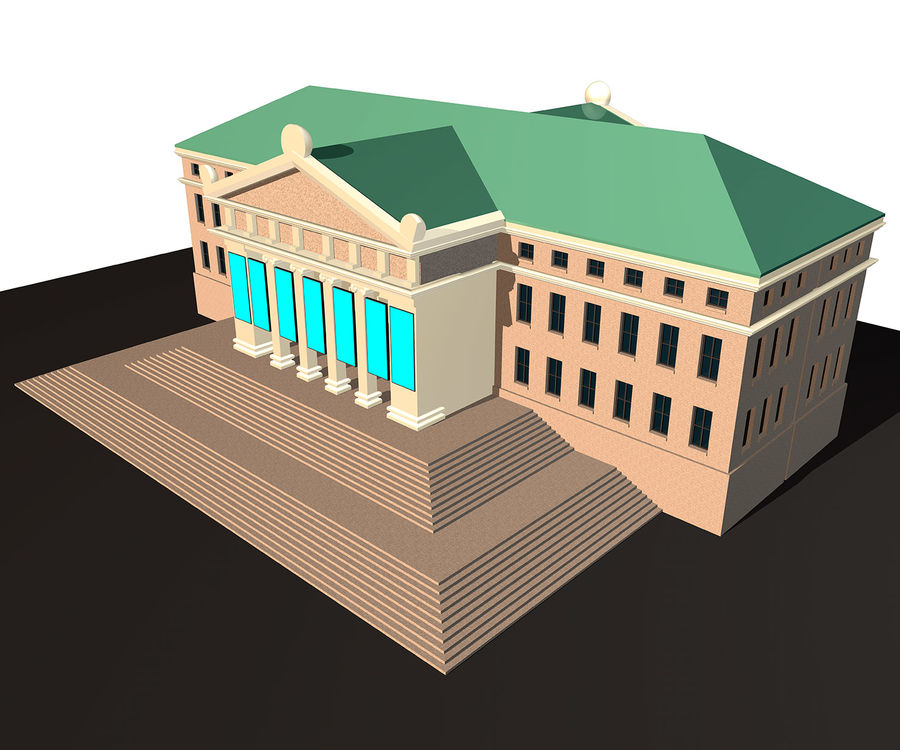 Museo royalty-free 3d model - Preview no. 1