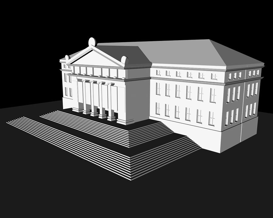 Museo royalty-free 3d model - Preview no. 9