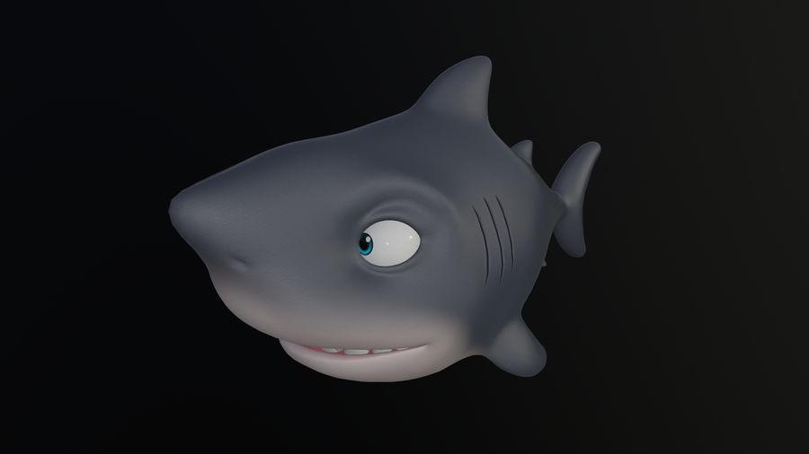 Asset - Cartoons - Animal - Shark royalty-free 3d model - Preview no. 3