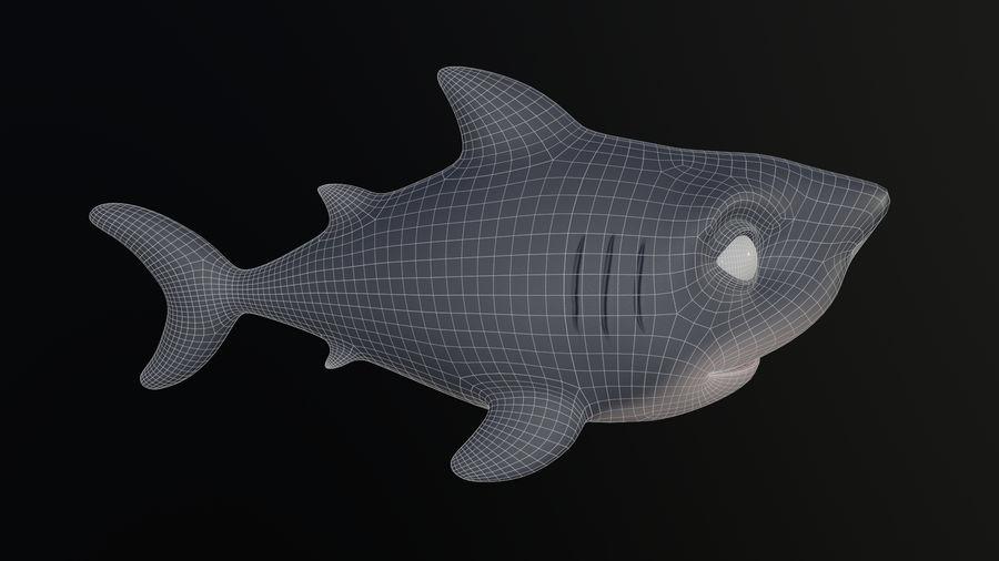 Asset - Cartoons - Animal - Shark royalty-free 3d model - Preview no. 7