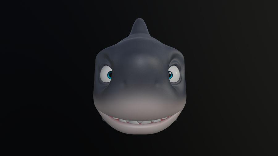 Asset - Cartoons - Animal - Shark royalty-free 3d model - Preview no. 4
