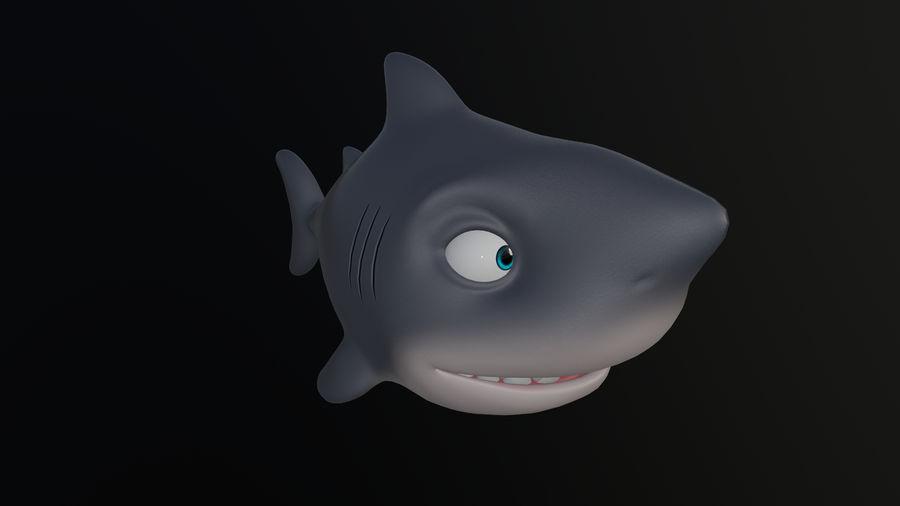Asset - Cartoons - Animal - Shark royalty-free 3d model - Preview no. 1