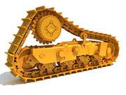 挖掘机履带 3d model