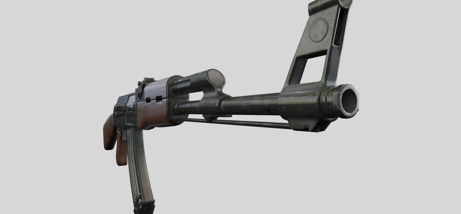 AK47枪 royalty-free 3d model - Preview no. 8