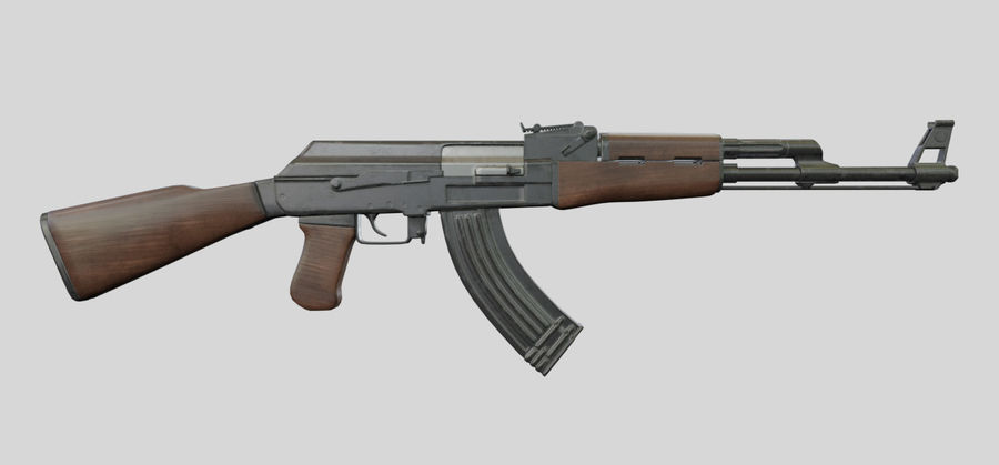 AK47枪 royalty-free 3d model - Preview no. 1