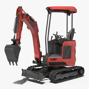 Tracked Mini Excavator Generic Rigged 3d model