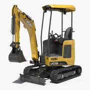 Mini Tracked Excavator JCB Dirty Rigged 3d model