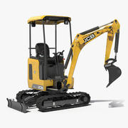 Mini Excavator JCB 18Z1 Clean Rigged 3d model
