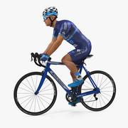 Mavi Takım Elbise Binme Bisiklet Arma 3D Modeli Atlet Bisikletçi 3d model