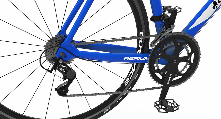 Bicyclist on Road Bike royalty-free 3d model - Preview no. 16