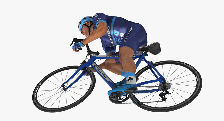 Bicyclist on Road Bike royalty-free 3d model - Preview no. 15