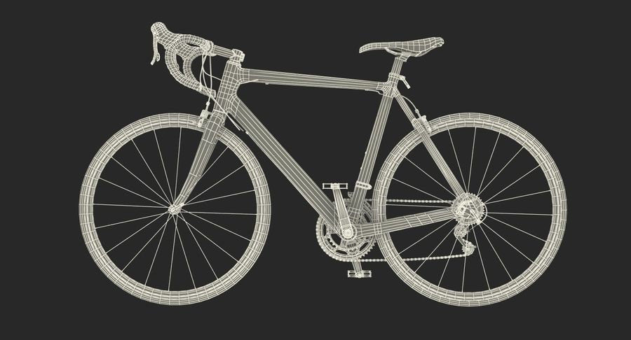 Bicyclist on Road Bike royalty-free 3d model - Preview no. 31