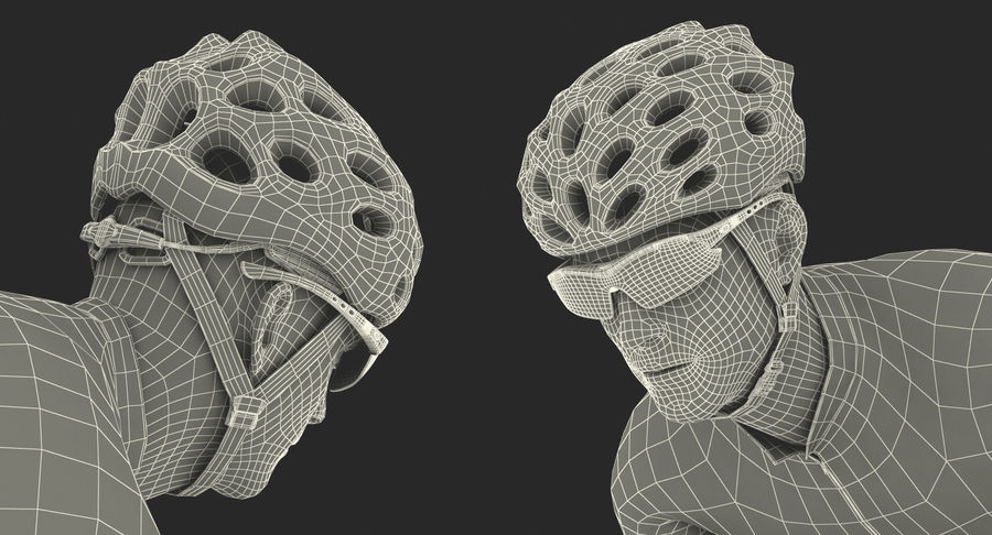 Bicyclist on Road Bike royalty-free 3d model - Preview no. 26