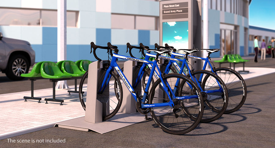 Bicyclist on Road Bike royalty-free 3d model - Preview no. 4