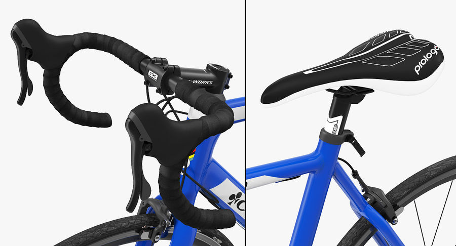 Bicyclist on Road Bike royalty-free 3d model - Preview no. 17