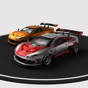 race auto concept 3d model