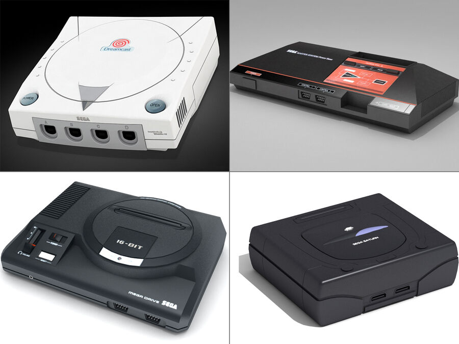 Sega consoles vol 1 royalty-free 3d model - Preview no. 1
