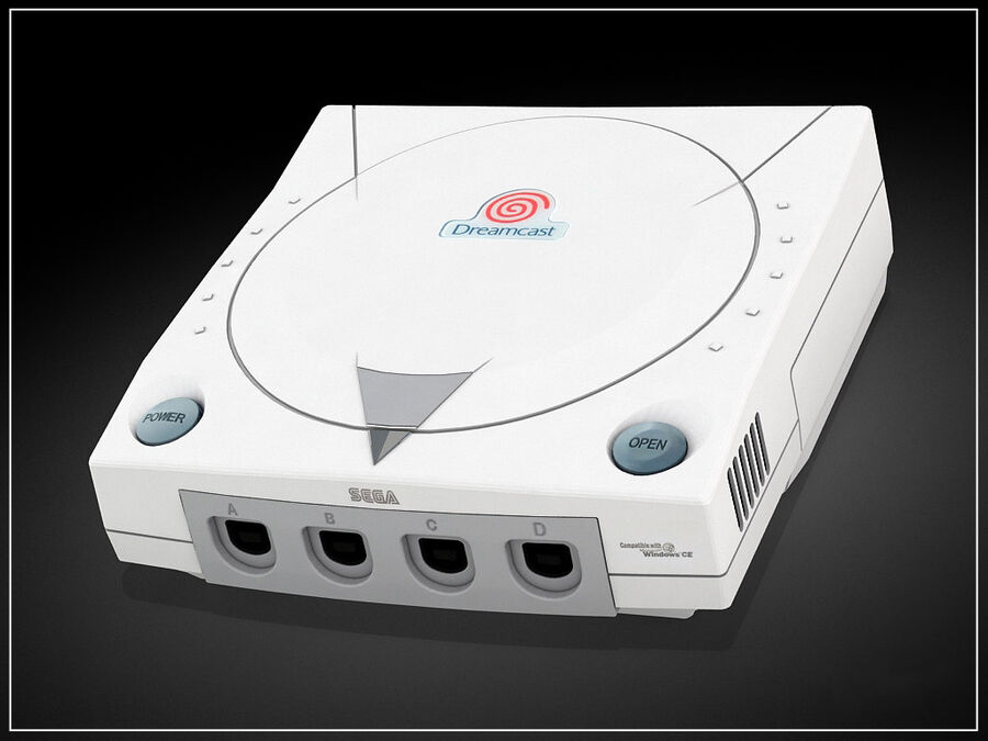 Sega consoles vol 1 royalty-free 3d model - Preview no. 2