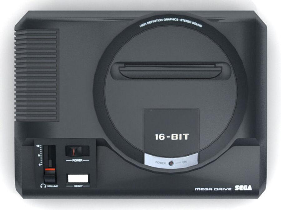 Sega consoles vol 1 royalty-free 3d model - Preview no. 11