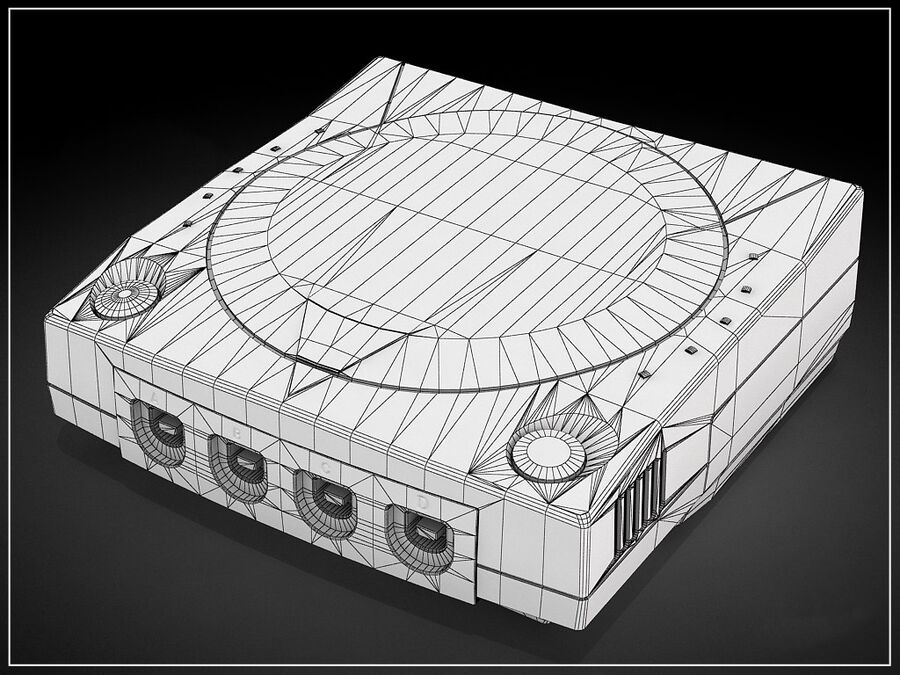 Sega consoles vol 1 royalty-free 3d model - Preview no. 8