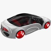サイエンスフィクションの未来の車 3d model