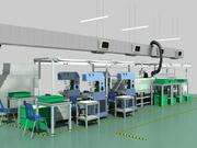 Factory Production Line 3d model