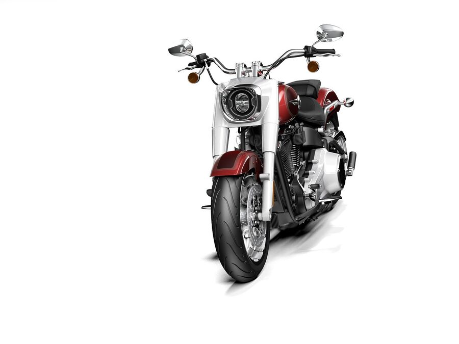 Harley-Davidson Fat Boy 2020 royalty-free 3d model - Preview no. 2