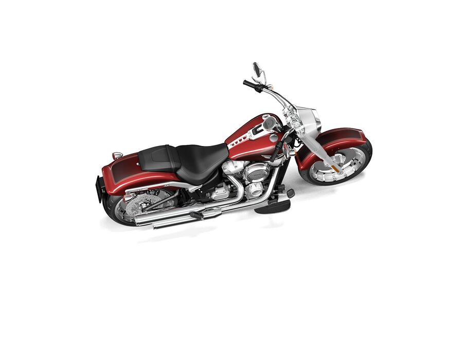 Harley-Davidson Fat Boy 2020 royalty-free 3d model - Preview no. 8