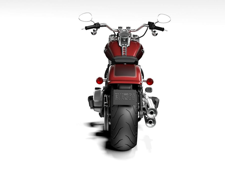 Harley-Davidson Fat Boy 2020 royalty-free 3d model - Preview no. 9