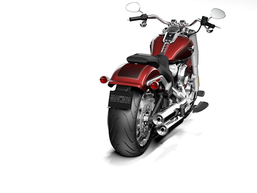 Harley-Davidson Fat Boy 2020 royalty-free 3d model - Preview no. 6