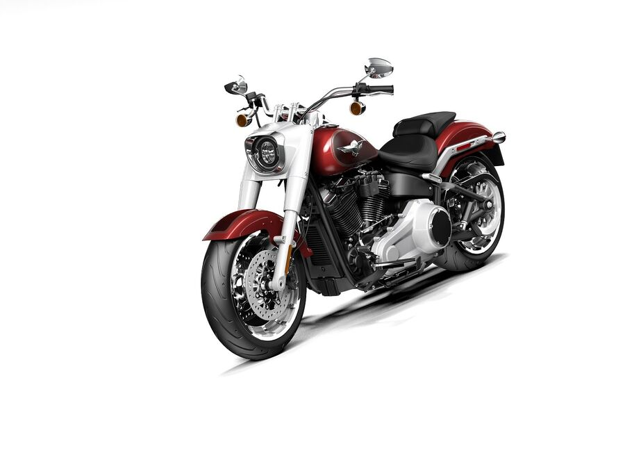 Harley-Davidson Fat Boy 2020 royalty-free 3d model - Preview no. 1
