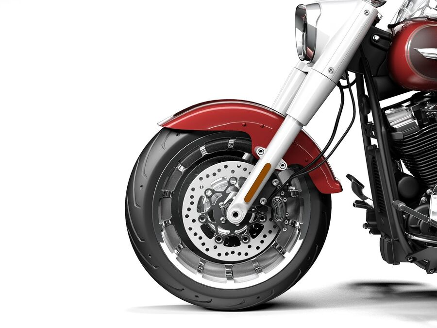 Harley-Davidson Fat Boy 2020 royalty-free 3d model - Preview no. 11