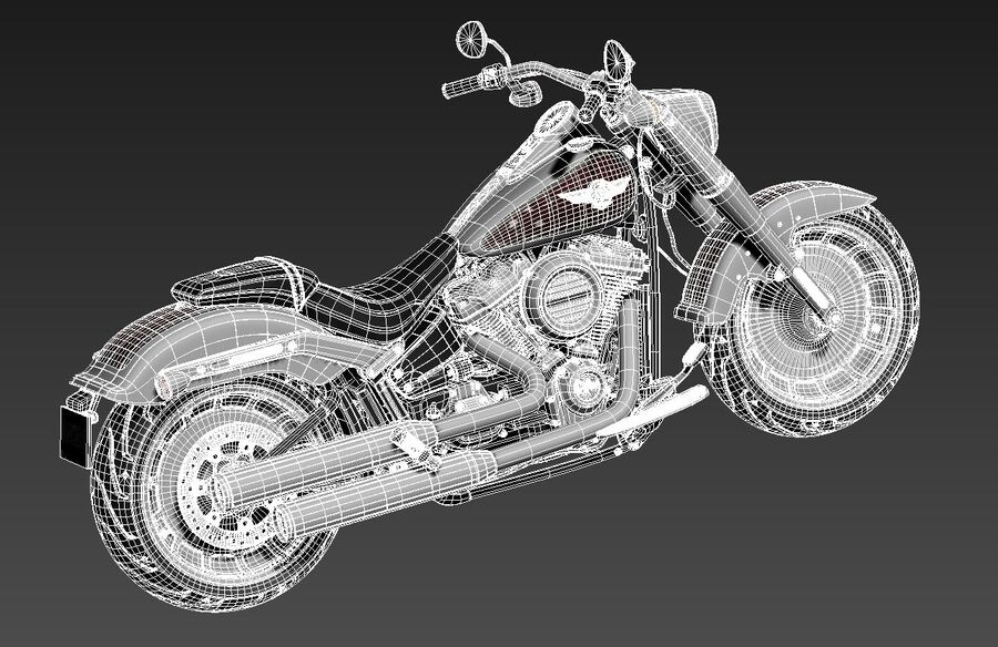 Harley-Davidson Fat Boy 2020 royalty-free 3d model - Preview no. 14