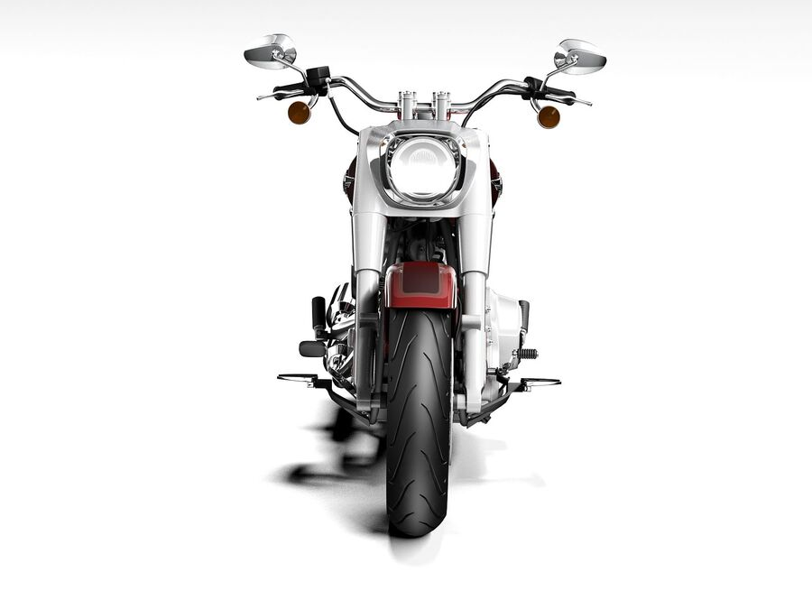 Harley-Davidson Fat Boy 2020 royalty-free 3d model - Preview no. 10