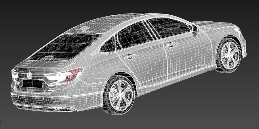Honda Accord 2020 royalty-free 3d model - Preview no. 14