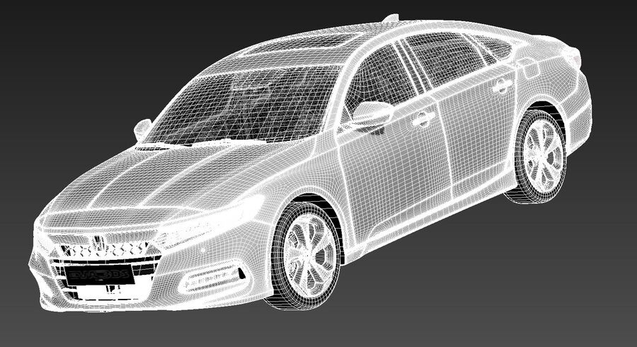 Honda Accord 2020 royalty-free 3d model - Preview no. 15