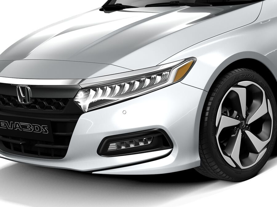 Honda Accord 2020 royalty-free 3d model - Preview no. 3