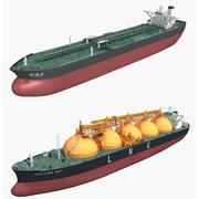 Recolha de navios de carga 3d model