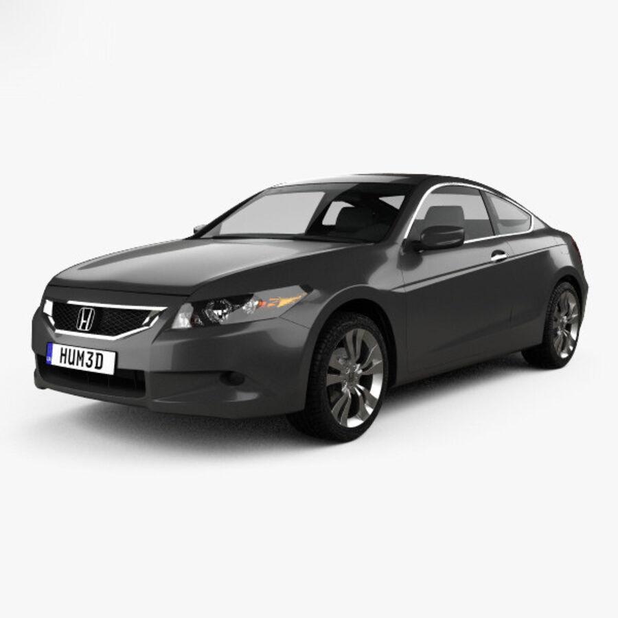 Honda Accord (CS) EX-L coupe 2008 royalty-free 3d model - Preview no. 1