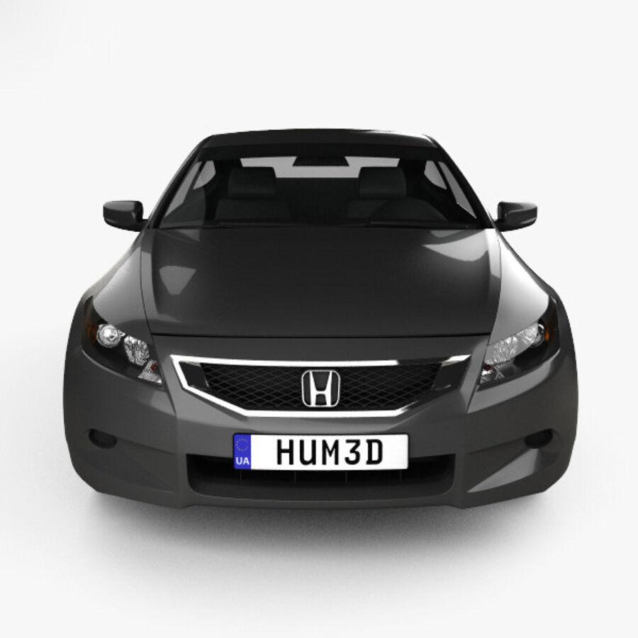 Honda Accord (CS) EX-L coupe 2008 royalty-free 3d model - Preview no. 10