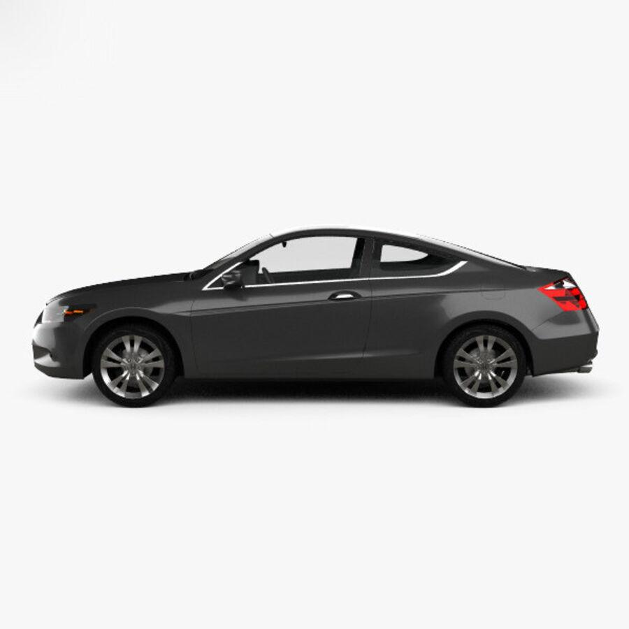 Honda Accord (CS) EX-L coupe 2008 royalty-free 3d model - Preview no. 5