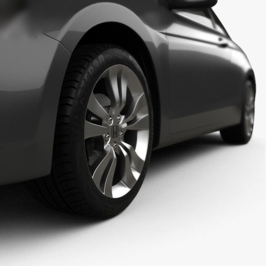 Honda Accord (CS) EX-L coupe 2008 royalty-free 3d model - Preview no. 8