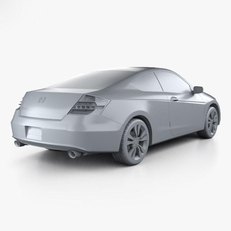 Honda Accord (CS) EX-L coupe 2008 royalty-free 3d model - Preview no. 12