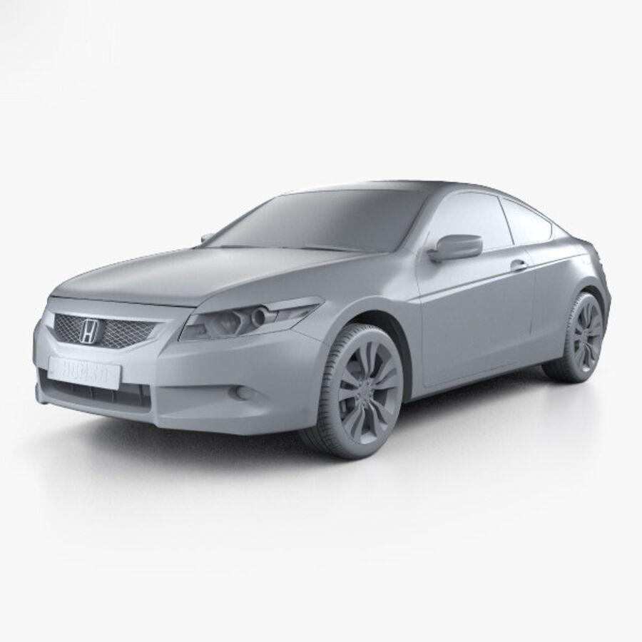 Honda Accord (CS) EX-L coupe 2008 royalty-free 3d model - Preview no. 11