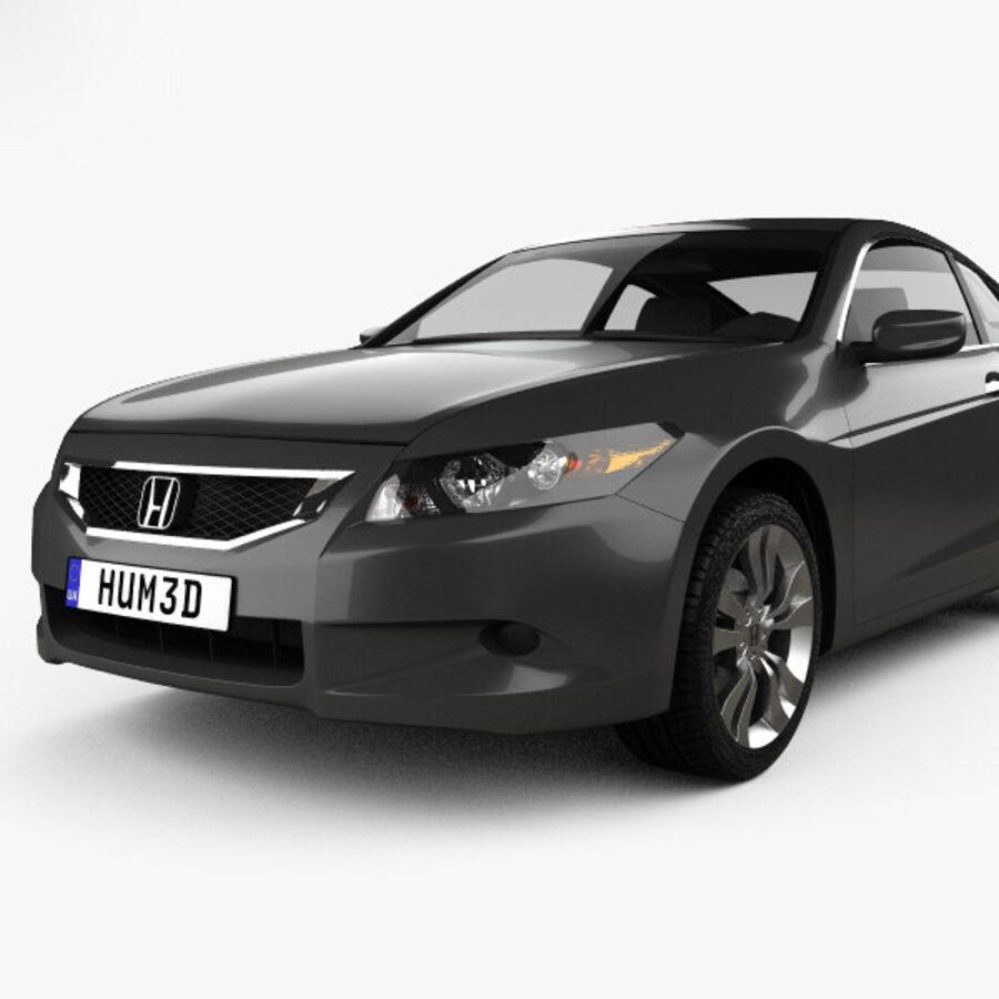 Honda Accord (CS) EX-L coupe 2008 royalty-free 3d model - Preview no. 6