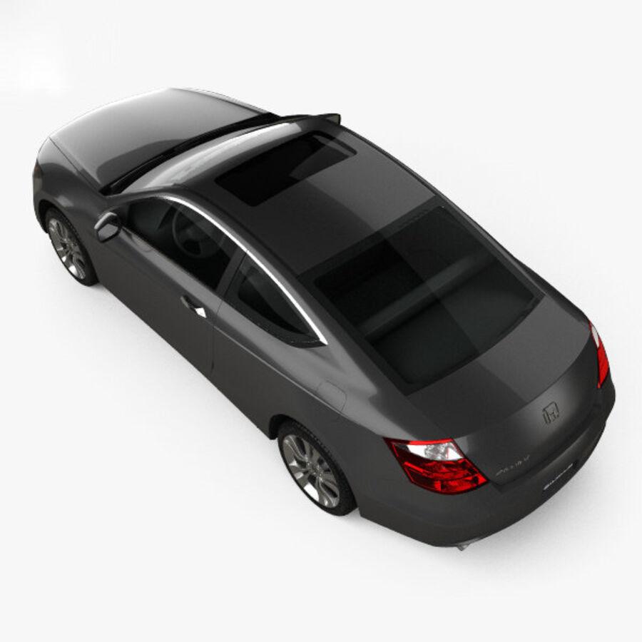 Honda Accord (CS) EX-L coupe 2008 royalty-free 3d model - Preview no. 9