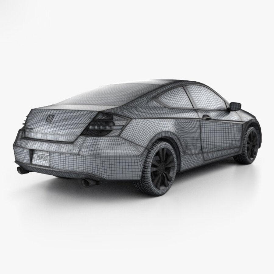 Honda Accord (CS) EX-L coupe 2008 royalty-free 3d model - Preview no. 4