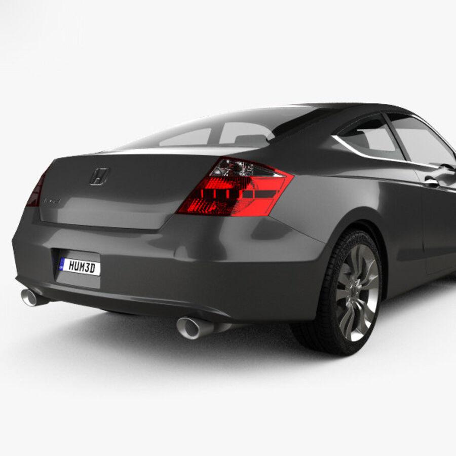 Honda Accord (CS) EX-L coupe 2008 royalty-free 3d model - Preview no. 7